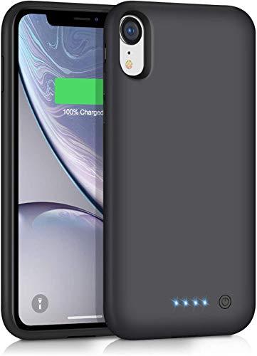 QTshine Cover Batteria per iPhone XR,【6800mAh Alta Capacità】Cover Ricaricabile Custodia Batteria Cover Caricabatterie Battery Case per iPhone XR[6.1'']Portatile Caricabatterie Charger Case Power Bank