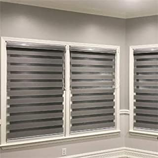 Custom Size Basic Horizontal Zebra Blinds for Windows (Max Width 93
