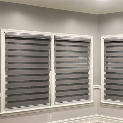 """Custom Size Basic Horizontal Zebra Blinds for Windows (Max Width 93"""", Max Length 97"""")(12 Colors for Choice)"""