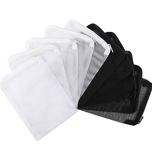 DEPEPE 10pcs Aquarium Filter Media Bags with Zipper for Activated Carbon, Biospheres, Ceramic Rings, etc.