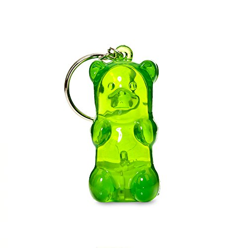 Gummygoods Bite-Sized Gummy Bear Keychain Kids Nightlight, LED light, Battery Included, (Green)