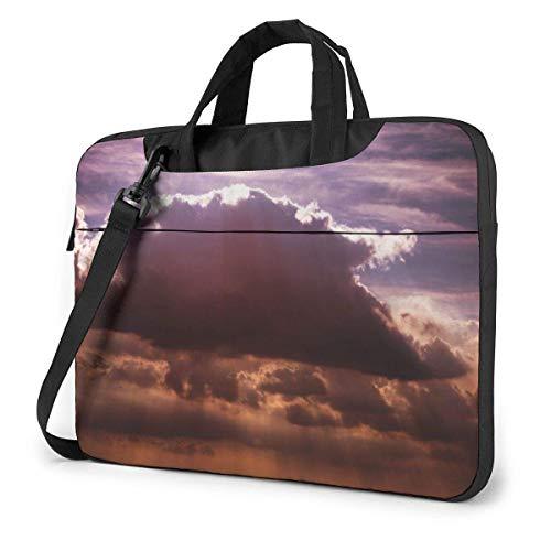Laptop Shoulder Bag Carrying Laptop Case, Cloud Pattern Computer Sleeve Cover, Business Briefcase Protective Bag