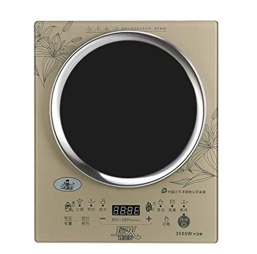 Estufa de cerámica eléctrica, cocina de inducción cóncava inteligente, estufa eléctrica ajustable al tacto, estufa a batería impermeable inteligente, estufa de onda ligera de alta potencia, 3500 W 1Y