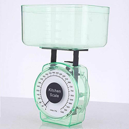 Balance de cuisine mécanique Powertool - Capacité de 1 kg - Balance de cuisson compacte pour la cuisine quotidienne - Couleur aléatoire