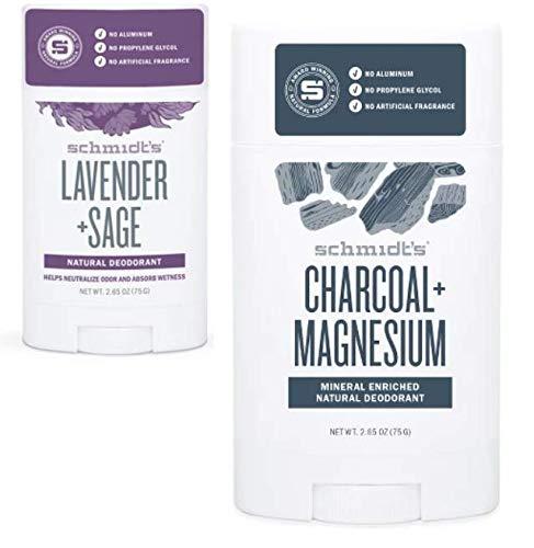 Schmidts Charcoal+Magnesium(2.65 OZ) & Lavender+Sage (2.65 OZ)