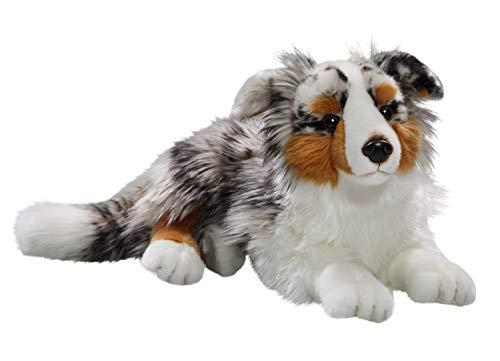 Carl Dick Australischer Schäferhund liegend aus Plüsch ca. 43cm 3434