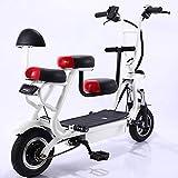 MRMRMNR Bicis Electricas Mujer, 48V350W Bicicleta Adulto Mujer, Bicicleta Eléctrica para Padres E Hijos, Batería Extraíble, con Función De Carga De Teléfono Móvil
