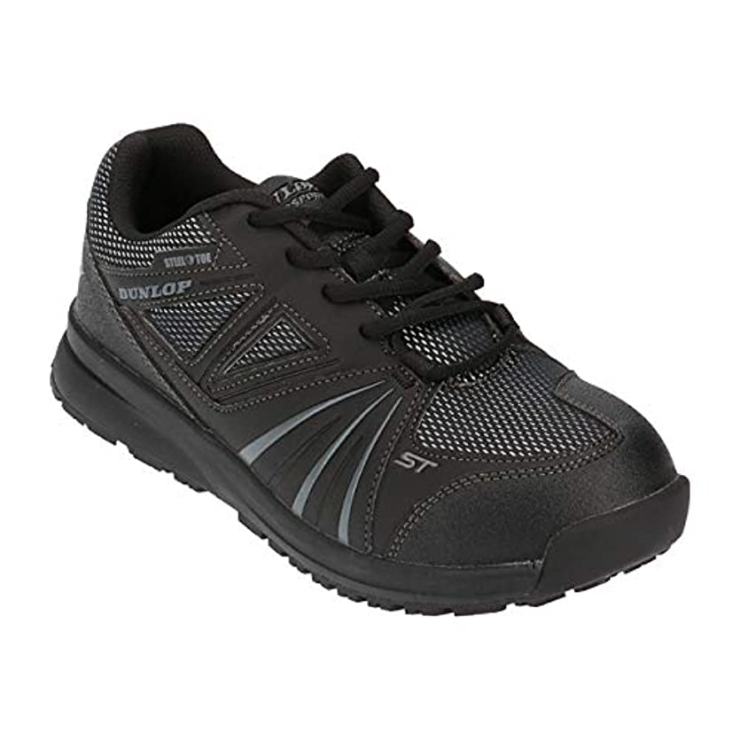 用量音楽を聴く苦しむ[ダンロップ] 安全靴 マグナム ST305 幅広 4E 耐油 防滑 鋼鉄先芯 紐タイプ メンズ 軽量 通気 セーフティーシューズ ローカット 作業靴 JF-S規格 普通作業靴S級 ブラック 25.5cm