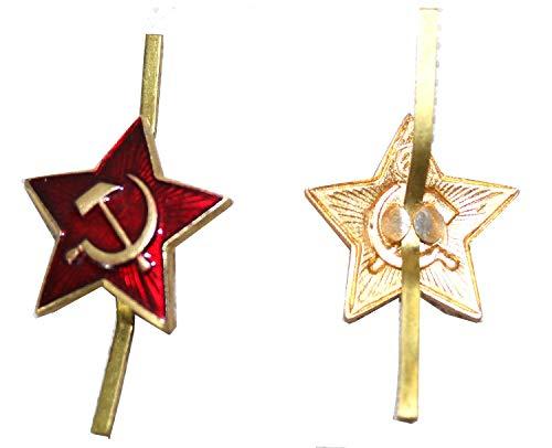 Russian USSR Soviet Red Army Star Hat Pin Cap Badge Kokarda* Sm.star by Military badge