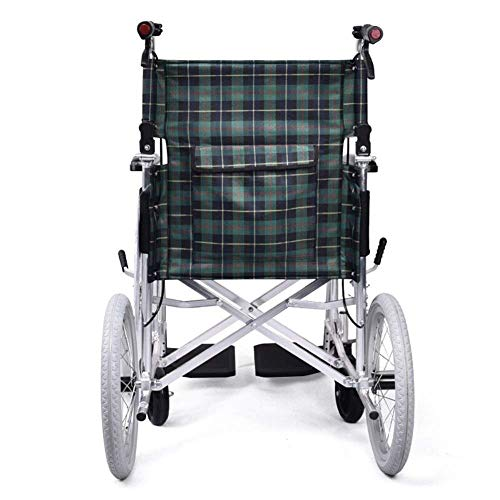 Rollstuhl Vollgummireifen kompakter und Leichter medizinischer Klapprollstuhl Trolley-Rollstuhl (Farbe: B) -B