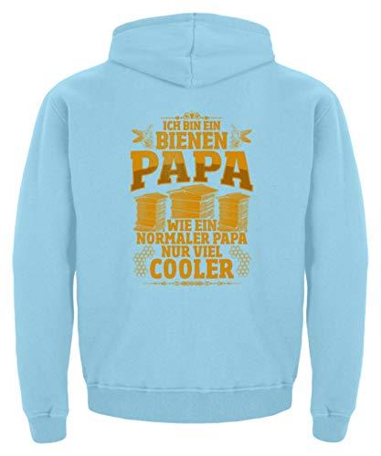 shirt-o-magic Imker Vater: Bienen-Papas sind cool - Kinder Hoodie -12/14 (152/164)-Himmelblau