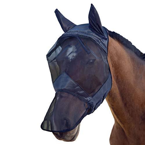 Harrison Howard Horse Fly Mask, Balck, Cavalleria Unisex-Adulto, Nero, Medium (COB)
