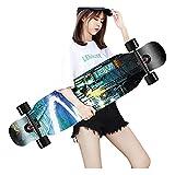 OFFA 43 Pulgadas Skateboards para Principiantes Kids Skateboard Deck, Monopatín Longboard Cruiser Skateboards Standard, Herramienta De Monopatín, Patinaje para Niñas con Rueda Flash Freestyle