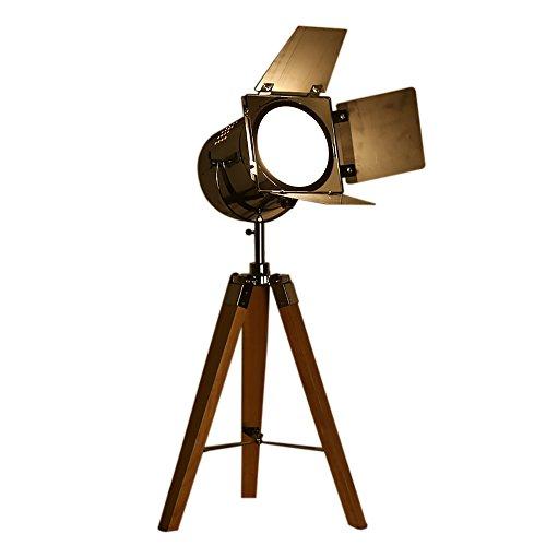 Desk Lamps Lampe De Table Woody Rétro Camera Modélisation Lire Salon Studio Bar Décoration Table Lampe LED 40W 220V E27