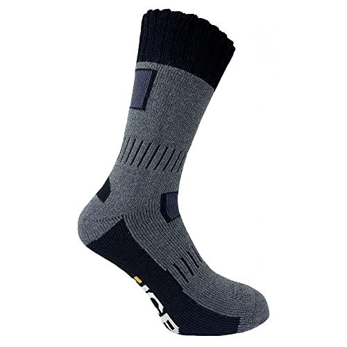 JCB , 1Rigger-Stiefel Outdoor Activity Herren Socken Gr. 43-46, grau