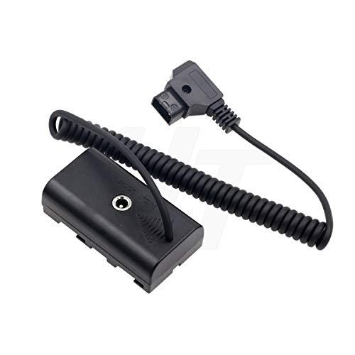 HangTon Monitor de cámara D-tap NP-F970 F570 F550 Dummy Battery DC acoplador adaptador de corriente para Atomos Shogun Inferno Ninja (60 cm en espiral)
