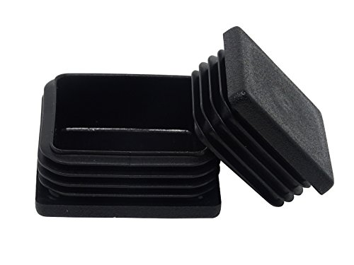 20 Stück SBS Lamellenstopfen für Vierkantrohr 30 x 30 mm | aus Kunststoff | Formrohr- Stopfen Rohrstopfen Pfostenstopfen