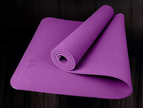 No brand Yoga Mats, Sport Indoor Yoga Mat, Principiante insapore Fitness Addensare Mat Expand Antiscivolo Yoga Mat estesa Verde Mano Portatile e conveniente