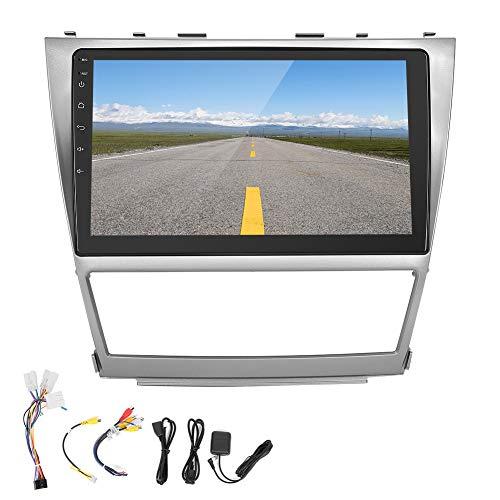 Akozon Radio de Coche 10.1 Pulgadas para Android Sistema de navegación con Reproductor Multimedia Todo en uno Apto para Camry 2006-2011