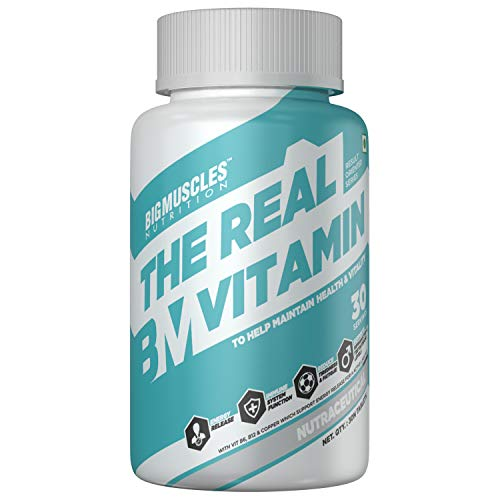 Bigmuscles Nutrition The Real Vitamin Advanced Multivitamin [30 Tablets] | Multivitamins,...