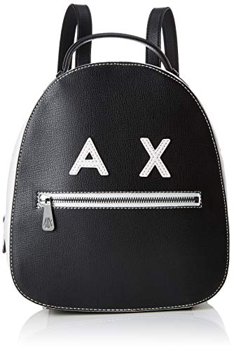 Armani ExchangeSmile Logo BackpackMujerMochilasNegro (Black/White)27x8.5x23.5 centimeters (B x H x T)