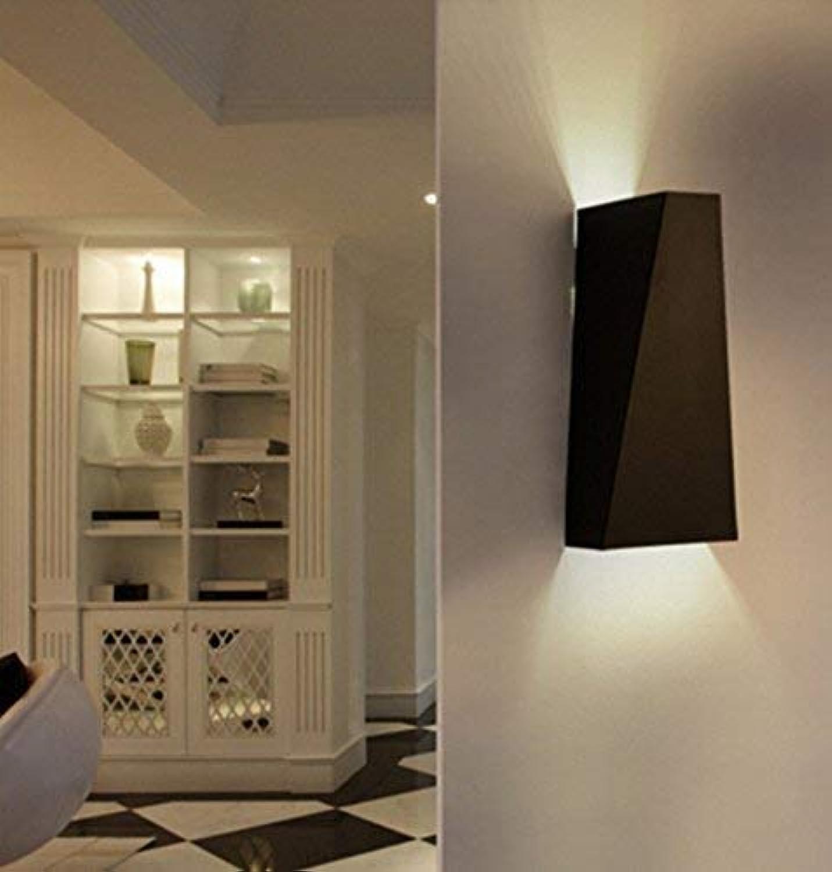 HhGold Eisen Moderne Wandleuchte, Minimalist ALS Lounge Die Schlafzimmer Nachttischlampe Kreative LED-Beleuchtung Wandleuchte Treppe Korridor (Weie Farbe) (Farbe   Schwarz)