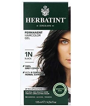 Herbatint Permanent Haircolor Gel 1N Black 4.56 Ounce