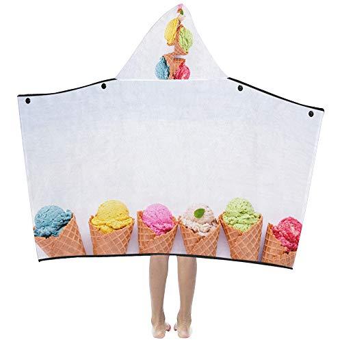 Sommer Fashionice Cream Cones Weiche warme Baumwolle gemischt Kinder verkleiden sich mit Kapuze tragbare Decke Badetücher werfen Wrap für Kleinkinder Kind Mädchen Jungen Größe Home Reise Schlaf
