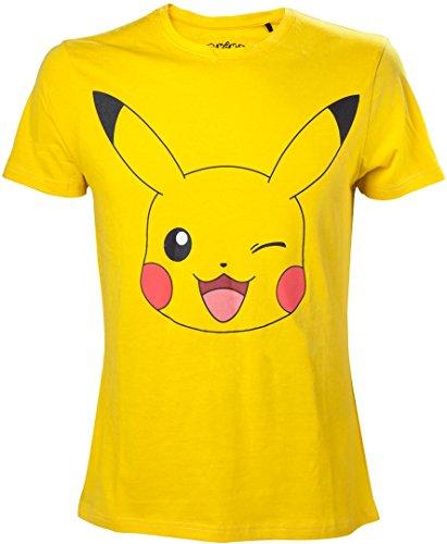 Pokémon - Men's Pikachu Print Yellow - 2XL