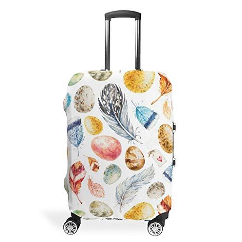 Easter Travel Luggage Cover Reusable Prevents Scuffs Fits 18-32 Inch for Wheeled Suitcase Over Softsided White m(22-24 inch)