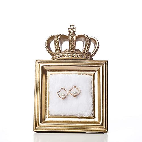 N\C Plato de baratija de Anillo de Diamantes, Soporte de joyería, Bandeja de joyería Despedida de Soltera y Fiesta, pequeña LKWK
