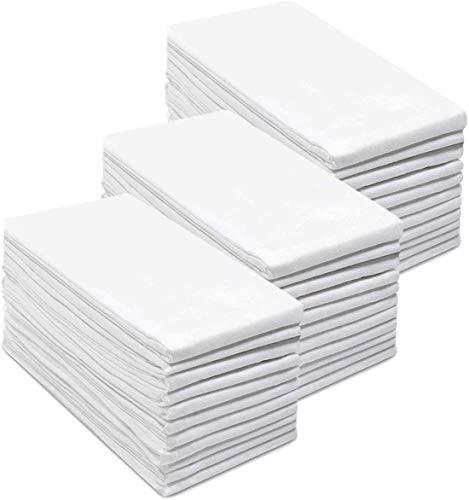 "Simpli-Magic Flour Sack Towels, 28""x28"", White, 12 Count"