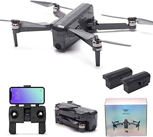 MOSTOP SJRC F11 Pro RC Drone 5G WiFi FPV GPS RC Drone Foldable 2K Camera Record Video App Control iOS Android One-Key RTH Follow Me 3D Visual Track Flight Headless (F11 Pro + 2 Battery)