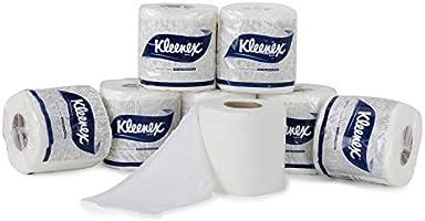 KLEENEX® Toilet Tissue 60047 - 2 ply Toilet Paper - 6 Toilet Rolls x 160 Toilet Tissue Sheets - Sheet Size 11 x 10 cm...