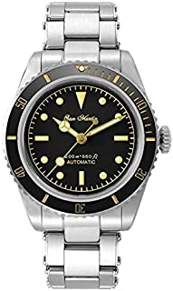 Sports Watches - Men's San Martin Water Ghost Mechanical Wristwatches Black Dial Stainless Steel Bracelet Business Luxury ...