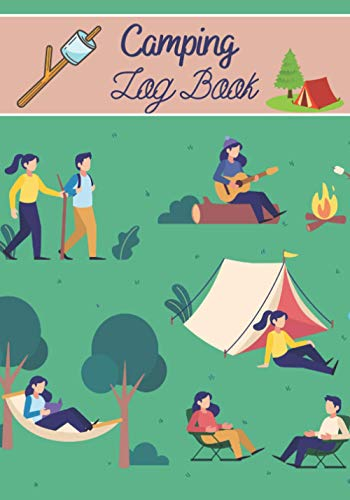 Camping log book: Camping notebook, contains 150 pages in 7x10' format, ideal to note all your vacations in the different campsites, perfect for campers.