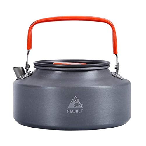 Lovexy 1.6L Outdoor Camping Kettle, Aluminum Tea Kettle with Carrying Bag, Compact Lightweight Coffee Pot for Hiking, Picnic