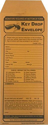 Key Drop Envelopes (500/Box)(P1)