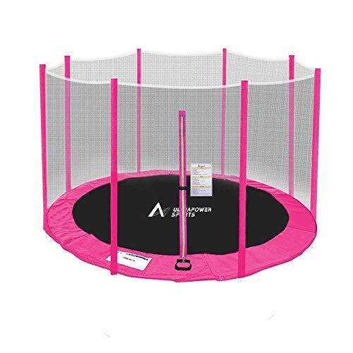 ULTRAPOWER SPORTS Sicherheitsnetz Ersatznetz für Trampolin Ø 305 cm, Gartentrampolin Ersatznetz für 6 Stangen, Netz außenliegend, Ersatzteil reißfest, UV-beständig - Pink