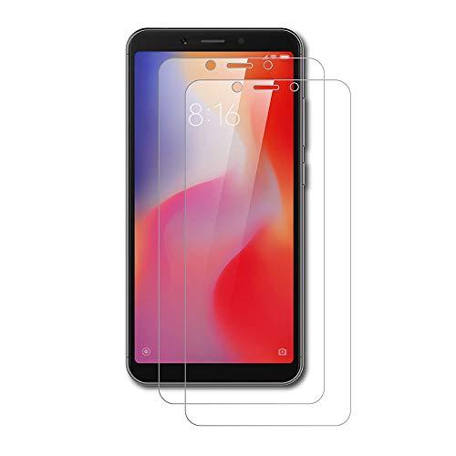 AICEK [2-Pack Protector de Pantalla Xiaomi Redmi 6, Cristal Templado para Redmi 6 Vidrio Templado Xiaomi Redmi 6 Cristal Screen Protector