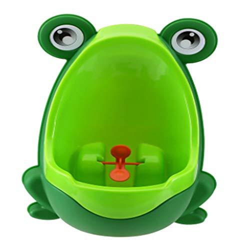 Wonque - Orinal infantil de pared con diseño de rana, para enseñar a los niños a orinar de pie, 1 unidad, polipropileno, Verde, 30*21*17CM