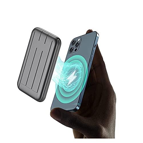 Banco De Energía Con Cargador Magnético Inalámbrico 2021, Compatible Con Iphone 12, Mini Banco De Energía Con Imán, Cargador Magnético De 5000 Mah, Tesoro De Carga Inalámbrica De 15 W Utilizado