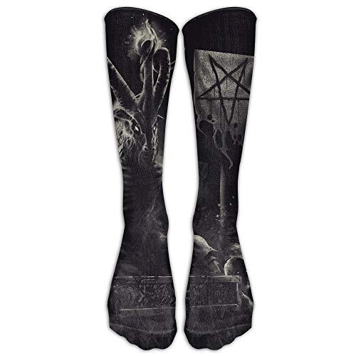 Gorgeous Socks Satanismo Diablos Pentagrama Calentador Tubo Medias Mujeres Hombres Clásicos Rodilla Calcetines altos Deporte Calcetín largo Un tamaño