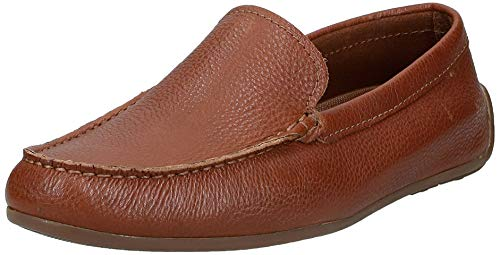 Clarks Men Reazor Edge Tan Leather Loafers-10 UK/India (44.5 EU) (91261378477100)