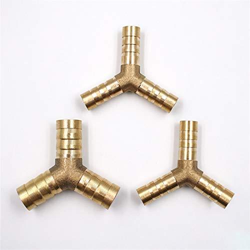 Brass Y Tipo Manguera Manguera Piece Piece 3 Way 6mm 8mm 10mm 12mm FURS AGUA AIRE TUBO TUBO TEE CONECTOR NEUMÁTICO Conecte el enchufe del enchufe para el aceite de gas de aire 3 unids ( Size : 8MM )