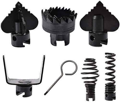 7-teiliges Set 16 mm Manganese Steel Drain Cleaner Machine Kombination des Schneidkopfes fixiert für Clearning-Werkzeuge mit dem Schlüssel
