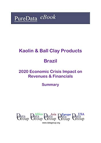 Kaolin & Ball Clay Products Brazil Summary: 2020 Economic Crisis Impact on Revenues & Financials (English Edition)