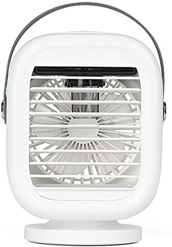 XJYDS Refrigeratore ad aria portatile, mini condizionatore d'aria personale USB, refrigeratori evaporativi, umidificatore, purificatore con 3 velocità LED, ventilatore di raffreddamento desktop, per c