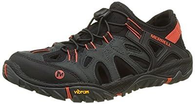 MERRELL Men's All Out Blaze Sieve Water Shoes, Grey (Dark Slate Dark Slate), 12 M US