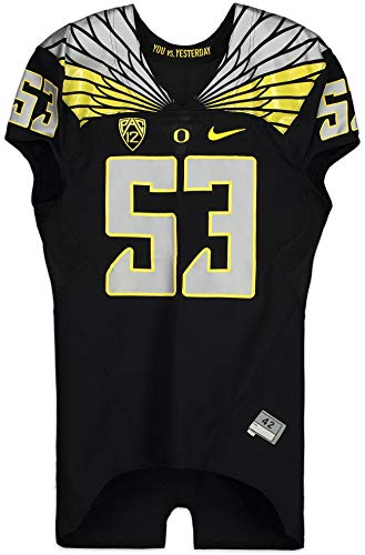 Oregon Ducks Team-Issued #53 Black'You vs. Yesterday' Jersey from the 2014 Football Season - Size 42 - College Game Used Jerseys